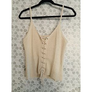 AMERICAN EAGLE • Sweater Tank with Front Tie